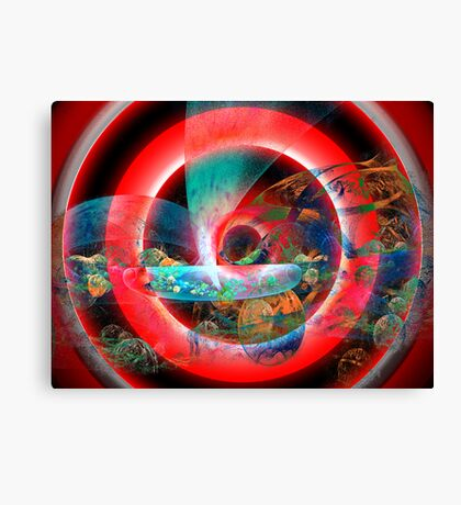 Xenophilia: Concentric Difference Blend Canvas Print