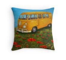 Vintage VW Bus Throw Pillow