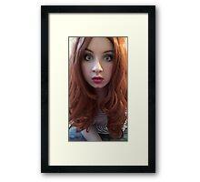 Karen Gillan Makeup (Photoshoot) Framed Print