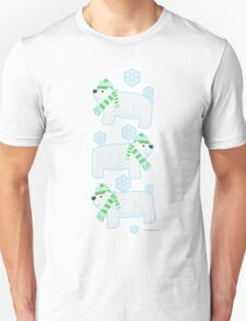 Three Cute Polar Bears Unisex T-Shirt