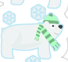 Three Cute Polar Bears Sticker