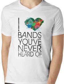 I Love Obscure Bands Mens V-Neck T-Shirt