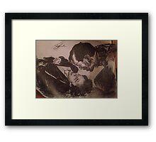 Sherlock and Moriarty - Mind Palace Asylum Framed Print