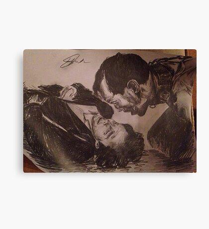 Sherlock and Moriarty - Mind Palace Asylum Canvas Print