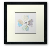 Go With All Your Heart Framed Print