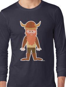 Cartoon Viking Long Sleeve T-Shirt