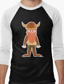 Cartoon Viking Men's Baseball ¾ T-Shirt