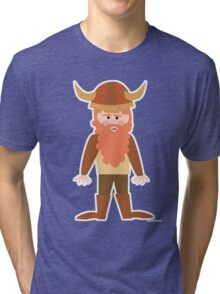 Cartoon Viking Tri-blend T-Shirt