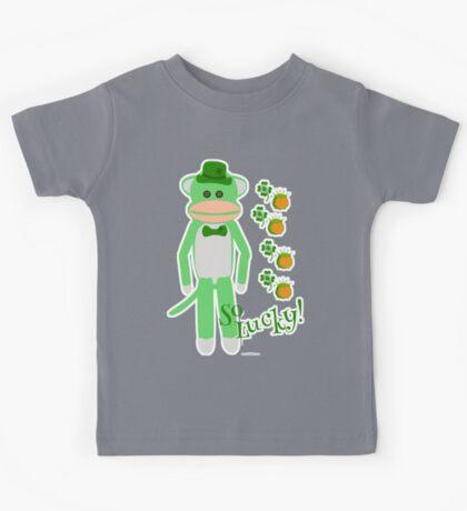 So Lucky Sock Monkey Kids Tee