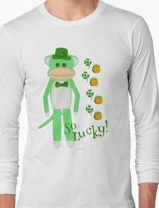 So Lucky Sock Monkey Long Sleeve T-Shirt