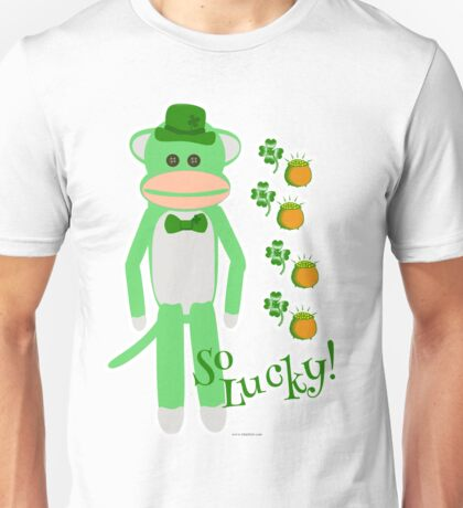 So Lucky Sock Monkey Unisex T-Shirt