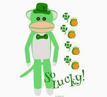 So Lucky Sock Monkey Unisex T-Shirt