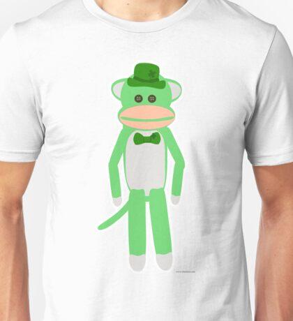 Saint Patrick's Day Sock Monkey Unisex T-Shirt