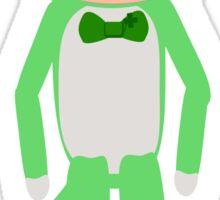 Saint Patrick's Day Sock Monkey Sticker