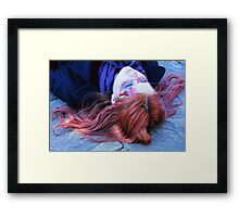 Pondlock Cosplay (Sherlock and Amy Pond) Framed Print