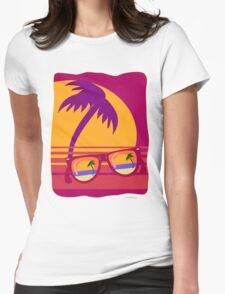 Sunglasses at Sunset Womens Fitted T-Shirt