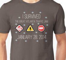 I Survived the Great Atlanta Traffic Jam- White Words Unisex T-Shirt