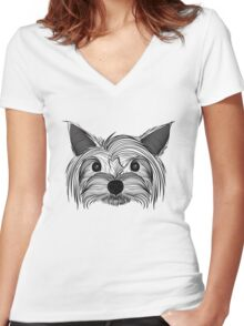 Doggie Women's Fitted V-Neck T-Shirt