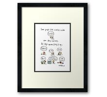 The truth about working in science Framed Print