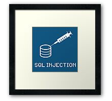 SQL Injection Framed Print