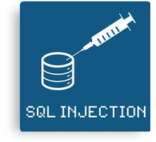 SQL Injection Canvas Print