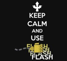 Keep Calm and Use Flash (White) One Piece - Short Sleeve