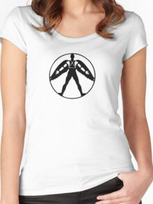 Icarus (black on light) Women's Fitted Scoop T-Shirt