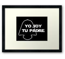 YO SOY TU PADRE Framed Print