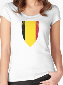 Flag of Belgium Women's Fitted Scoop T-Shirt