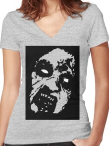Evil Dead Cheryl black Women's Fitted V-Neck T-Shirt