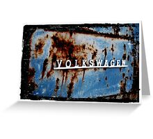 Rusted VW Greeting Card