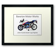 BMW Boxer Cup Replica R1100S Framed Print