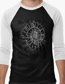 The Passage of Time (blk/wht) Men's Baseball ¾ T-Shirt