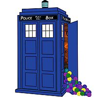 Police Box Yarn Box Photographic Print