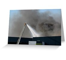 Factory Fire Greeting Card