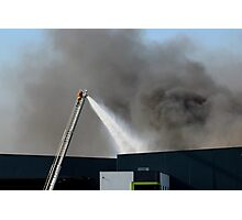 Factory Fire Photographic Print