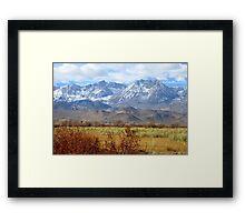 Scenic Sierras Framed Print