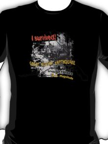I SURVIVED GREAT ALASKA EARTHQUAKE W/ AK SILHOUETTE T-Shirt