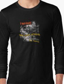 I SURVIVED GREAT ALASKA EARTHQUAKE W/ AK SILHOUETTE Long Sleeve T-Shirt