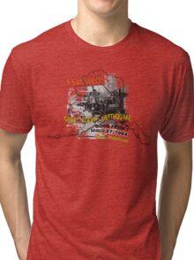 I SURVIVED GREAT ALASKA EARTHQUAKE W/ AK SILHOUETTE Tri-blend T-Shirt