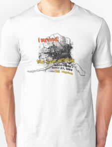 I SURVIVED GREAT ALASKA EARTHQUAKE W/ AK SILHOUETTE T-Shirt