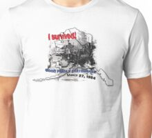 I SURVIVED GOOD FRIDAY EARTHQUAKE W/ AK SILHOUETTE Unisex T-Shirt