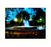 Fountain on the Square Art Print
