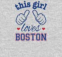 This Girl Loves Boston Womens Fitted T-Shirt