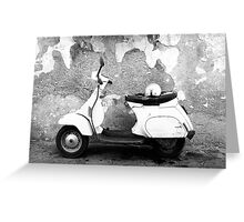 Italian Scooter Greeting Card