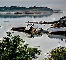 Fishing boats shipwrecks by jvoweaver