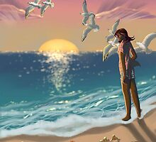 Elysia and the Beach by BlacQueen