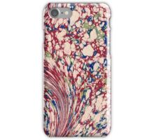 Antique Marbled Paper Red White iPhone Case/Skin