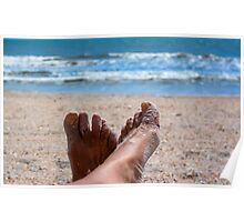 Beach Feet Portrait  Poster