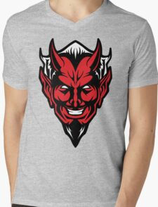 Devil Man Mens V-Neck T-Shirt
